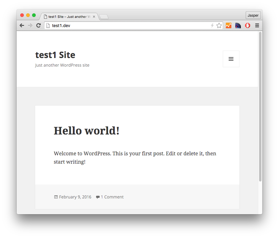 local test.dev site