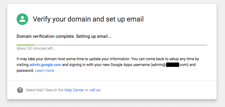 Verify your domain and set up email